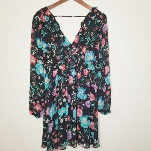 Express | Large Floral Print Mini Dress